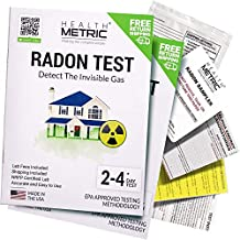 Radon Test Kit for Home - Shipping & Lab Fees Included | Easy to Use Charcoal Radon Gas Detector for Testing 2 Locations | 48h Short Term EPA Approved Radon Tester | Fully Certified Lab Testing