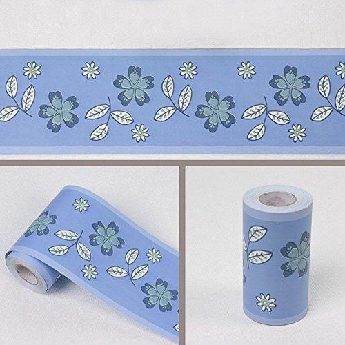 clasificación y comparación SimpleLife4U Papel pintado adhesivo con pétalos azules en el borde entre la cocina y el baño… para casa