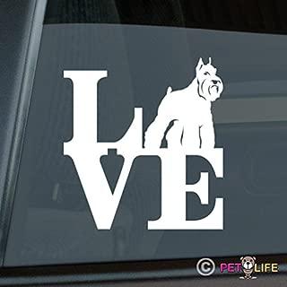 Mister Petlife Love Schnauzer Sticker Vinyl Auto Window Park v2