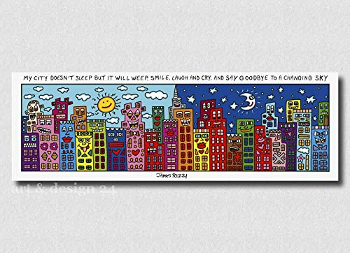 Goebel - Magnettafel City - Memoboard - Pinnwand - James Rizzi - Glas - Metall
