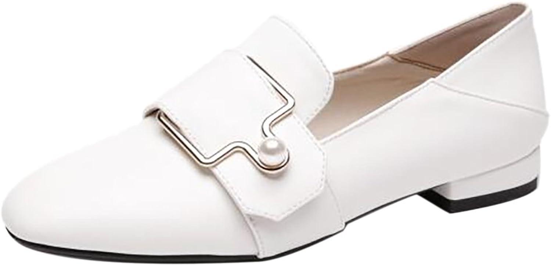 RizaBina Women Closed Toe Loafers shoes Low Heels