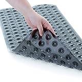 SlipX Solutions El tapete de baño extralargo agrega una tracción Antideslizante a Las tinas y duchas: ¡30% más Que Las esteras estándar! (200 Ventosas, 99 cm de Largo - Negro translúcido)