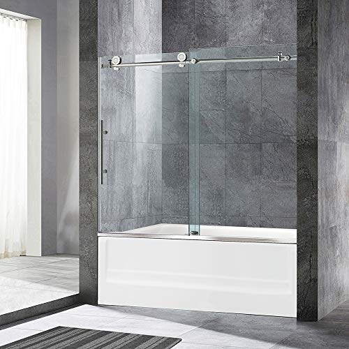 Great Deal! WOODBRIDGE MBSDC6062-C Frameless Sliding Bathtub 56-60 Width, 62 Height, 3/8 (10 mm)...