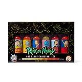 Rick and Morty, Set de Regalo Desafío de Salsas Picantes, Incluye Sabores Habanero, Jalapeño y Más, Pack de 6