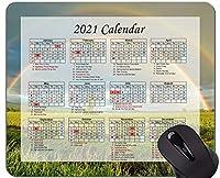 カレンダー2021年マウスパッド、農地景観オフィスマウスパッド