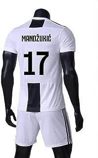 LDFN Mario Mandzukic #17 Men's Soccer Jersey - Short Sleeve Sports Jersey T-Shirt Fan Shirt (Color : White, Size : XL)