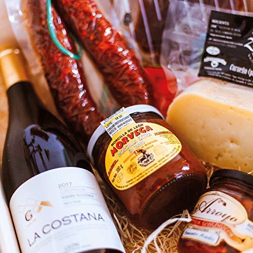 Smartbox - Caja Regalo - Cesta Gourmet: Queso Artesano, Embutidos, pimientos ecológicos y Vino - Ideas Regalos Originales