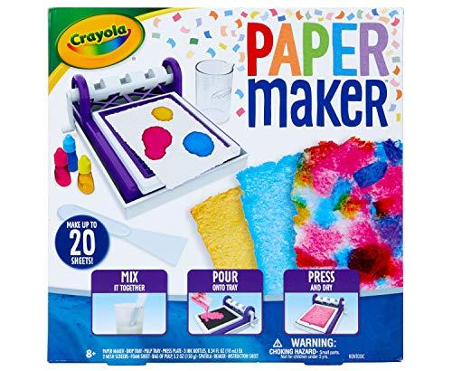 Crayola Paper Maker, Paper Making DIY Craft Kit, Gift for Kids, 8, 9, 10, 11