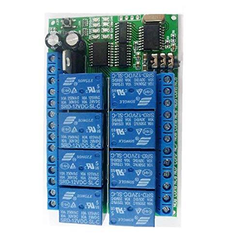 EElabper Relaismodul MFV-Audiodekodierung Relais 8-Kanal-Schalterbaugruppe Intelligent Home Controller Ad22a08