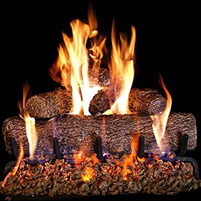 Peterson Real Fyre 18-inch Live Oak Log Set With Vented Burner and Auto-Safety Pilot Control Valve (Propane Gas Only)