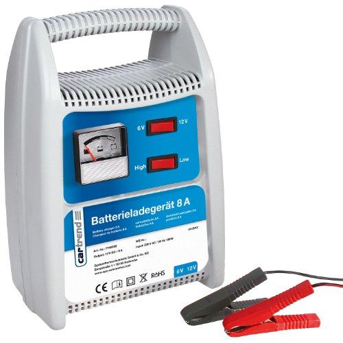 Cartrend 7740008 Batterieladegerät 8 Ampere, umschaltbar 6/12 Volt