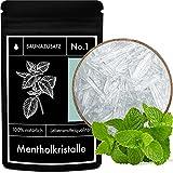 Mentholkristalle Sauna Zusatz No. 1 – Menthol-Kristalle – Aufguss-Mittel aus 100% natürlicher japanischer Mentha Arvensis Minze - 50 g