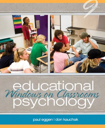 Compare Textbook Prices for Educational Psychology: Windows on Classrooms 9 Edition ISBN 9780132610216 by Eggen, Paul,Kauchak, Don