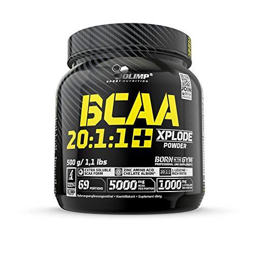 Olimp BCAA 20:1:1 Xplode Powder, Cola, 500 g, Aminosäuren mit Citrullin für einen extremen Muskelpump