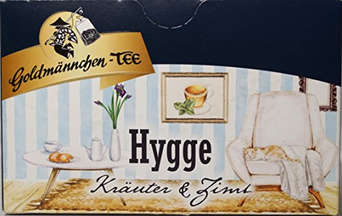 Goldmännchen Hygge, Kräuter und Zimt, Kräutertee aromatisiert mit Zimt-Vanillegeschmack, Tee, 20 Teebeutel, X04288
