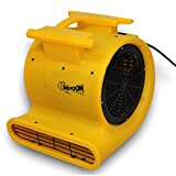 Zoom Blowers® 1.0 HP Zoom Centrifugal Floor Dryer, Air Mover - Commercial Grade High Quality Carpet Blower
