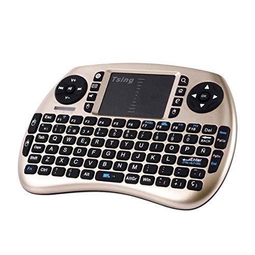 Greatangle-UK 2.4G Portable Handheld Wireless Tastatur Touchpad Multimedia für TV-Box Media TV PC Stick Laptop für Raspberry PI PS3