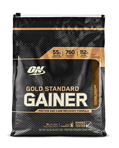 Optimum Nutrition Gold Standard Gainer, Colossal Chocolate, 10 Pound