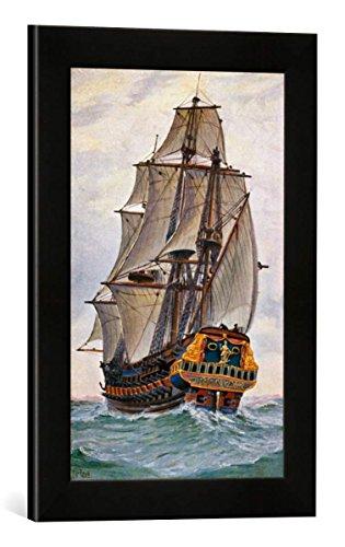Gerahmtes Bild von Christopher Rave Hoffnung von Lübeck, Kunstdruck im hochwertigen handgefertigten Bilder-Rahmen, 30x40 cm, Schwarz matt