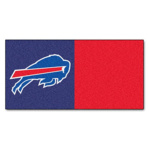 FANMATS NFL Buffalo Bills Nylon Face Team Carpet Tiles