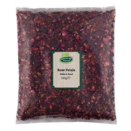 Pétalos de rosa 100 g (comestibles y secos) por Hatton Hill