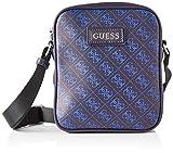 Guess Dan Logo Mini Document Case, Bags Briefcase para Hombre, Azul, Talla única