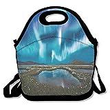 Islandia Tours Lunch Tote Bags Travel Picnic Bag Lonchera aislada con correa para el hombro para mujeres Adolescentes Niñas Adultos