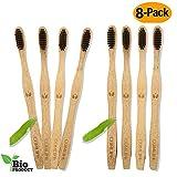 COMLIFE Cepillos de Dientes de Bambú 8PCS, Vegano...