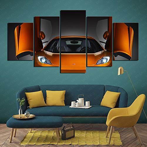 McLaren MP4 12C Supercar Canvas Wall Printed HD 5 Panel Family Needs 100x50cm Frameless