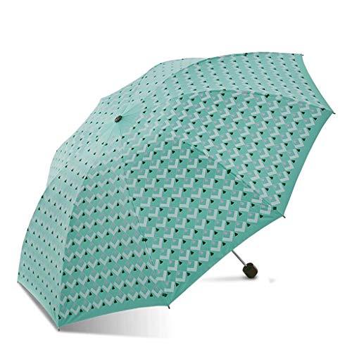 YNHNI Sombrilla soleada Cubierta Plegable Sol Paraguas UV protección Lluvia y Lluvia Paraguas Hembra,Portátil