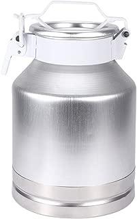 Jacksking Milk Wine Dispenser,8L Aluminum Alloy Milk Can Pot Container Milk Dispenser Wine Pail Bucket Jug,Milk Can