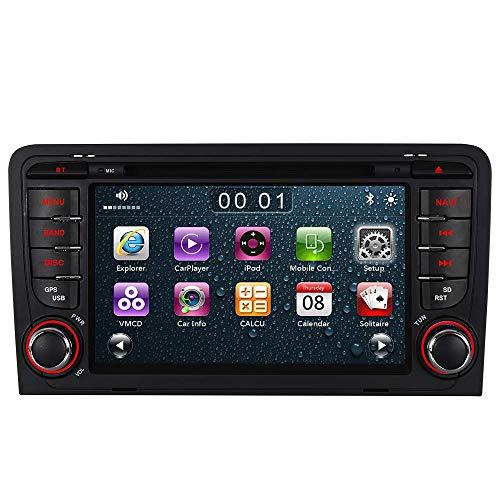 "7\"" AUTORADIO MIT 3G DVD GPS Navigation USB SD Bluetooth Autoradio CD Moniceiver+Bluetooth+ Dual Zone+Subwoofer+DAB+VMCD Für Audi A3 S3 RS3 8P 8V 8PA (Bilaterale Taste) (Version 1)"