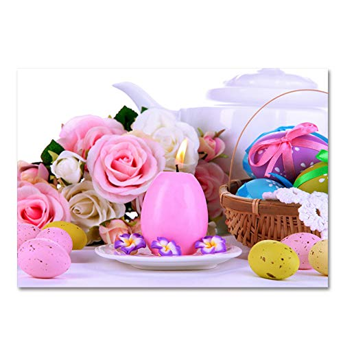 MMHJS Alfombra De Pascua De Fibra De Poliéster Adecuado para Fiestas, Decoración De Centros Comerciales Color De Alfombra Antideslizante Engrosado para Mascotas