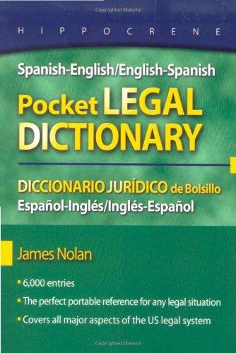 Spanish-English/English-Spanish Pocket Legal Dictionary
