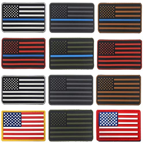 us flag patches 3D stickers Personality PVC American flag patches badges customized for clothes 8 * 5CM