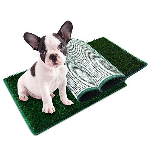 """HAVETOLOVE Fake Grass for Dogs to Pee on 3 Pcs Replacement Grass Potty Pad for Dogs, Indoor and Outdoor Multiple Uses Artificial Training Pads Dog Pee Grass Pad Small (14x18"""")"""
