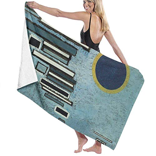 YHJUI Desigual por Kandinsky Toallas de baño Toalla de Playa Toalla de baño Absorbente Suave 130 x 80 cm