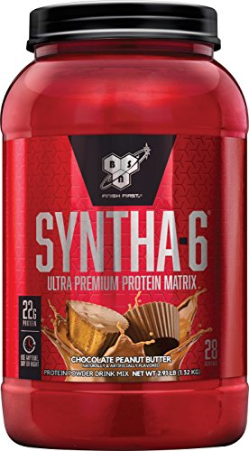 BSN SYNTHA-6 Whey Protein Powder, Micellar Casein, Milk Protein Isolate, Cinnamon Bun, 28 Servings (Packaging May Vary)