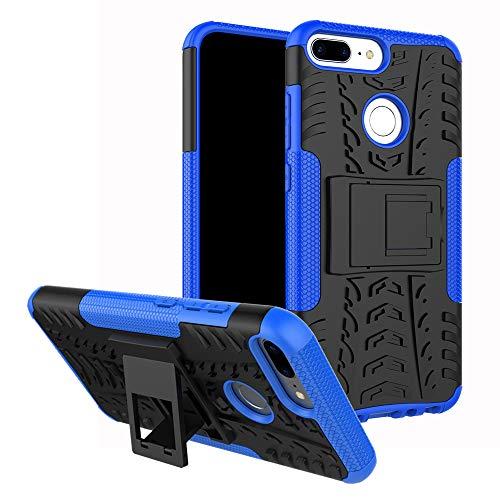 MAMA MOUTH Honor 9 lite Hülle, [Heavy Duty] Rugged Armor stoßfest Handy Schutzhülle Silikon Tasche Ständer Hülle Hülle mit Standfunktion für Huawei Honor 9 lite Smartphone,Blau