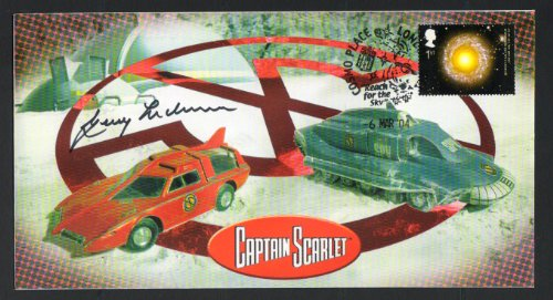 Captain Scarlet Offizielle Gerry Anderson handsignierten GEDENKMÜNZE Cover