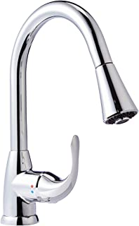 AmazonBasics AB-KF709-PC Pull-Down Kitchen Faucet, Polished Chrome