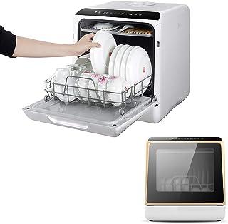 WZF Mini lavavajillas portátiles con una Exclusiva Rejilla de Doble Capa, lavavajillas de sobremesa pequeño, automático, Completamente automático y Compacto para el hogar, no Requiere instalación