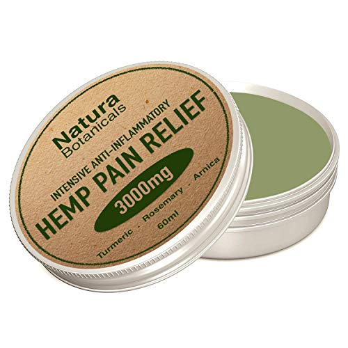 Hemp Pain Relief Balm - Premium Natural Pain Relief, 3000mg Plant Extracts | 100% Natural Anti-Inflammatory for Joints & Muscles, Arthritis Pain | Fast Acting Hemp Salve, 60ml (60ml)