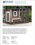 DIY Chicken Coop/Hen House 4 ft x 8 ft Modern Roof Style Project Plans, Design 70408RM