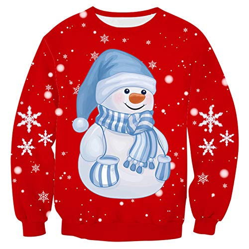 yueyang Pärchen Stil Weihnachten Digitaldruck Rundhals Pullover Sweater