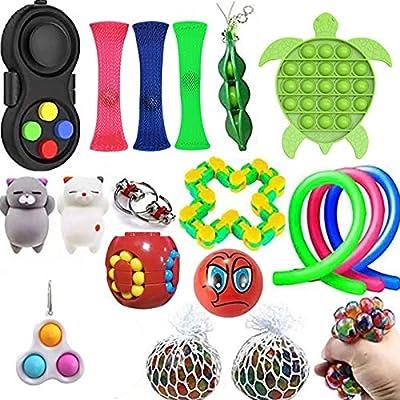 iSayhong Sensory Fidget Toys Set de juguetes para aliviar el estrés y la ansiedad, juguete para niños y adultos, juego de juguetes especiales para fiestas de cumpleaños de