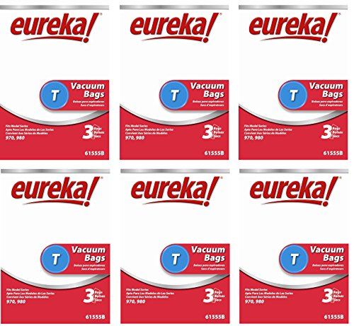 Eureka 61555B-6 Disposable Dust Bags Type T 3 Count