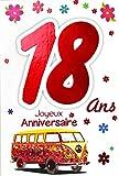 Photo de Afie 69-2119 Carte Joyeux Anniversaire 18 ans Fille Jeune Femme Adulte - Majorité Majeure Permis B Conduire Voiture Cadeaux Maquillage Papillons