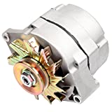 INEEDUP Car Alternator Fit for High Output For Chevy one 1 Wire 105 Amp DELCO 10SI Self-Exciting 12V