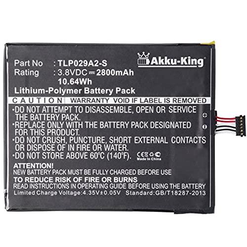 Akku-King Akku kompatibel mit Alcatel TLP029A2-S - Li-Polymer 2800mAh - für One Touch Idol 3 5.5, Pixi 3 5.5, Pixi 3 5.5 3G, BAAL6045Y, OT-6045F